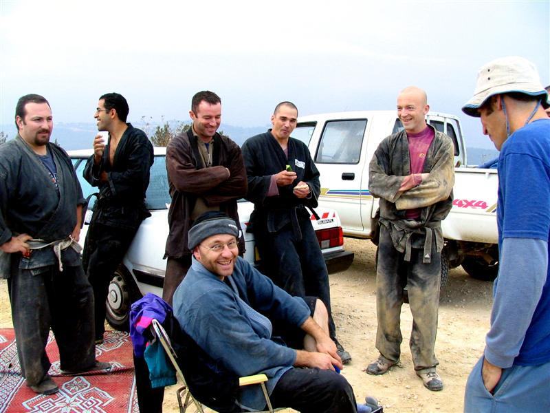Relief and smiles, top of mount Eitan, Akban 24, 2005